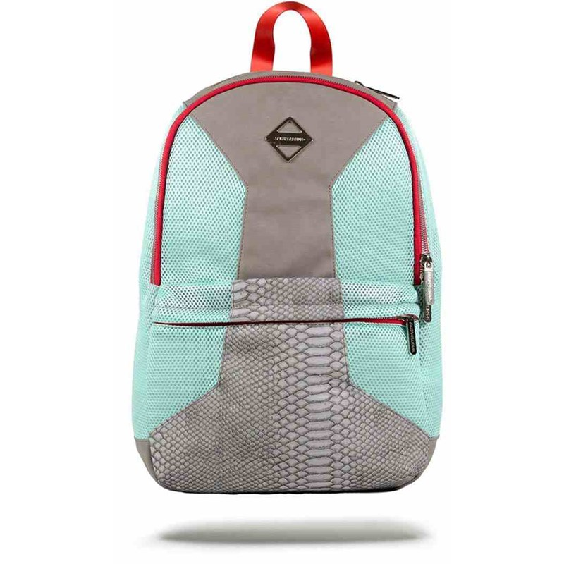 Batoh Sprayground Retro Future Cut & Sew Grey/Mint objem 20,7L