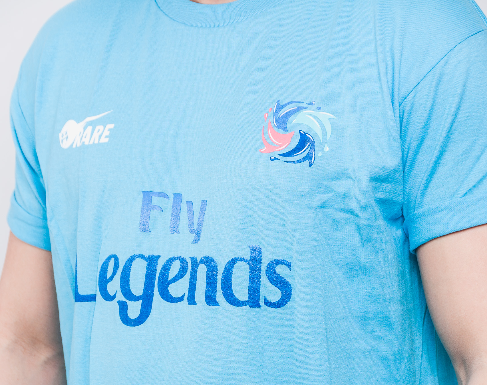 Triko Pink Dolphin Fly Legends '18 Tee Aqua