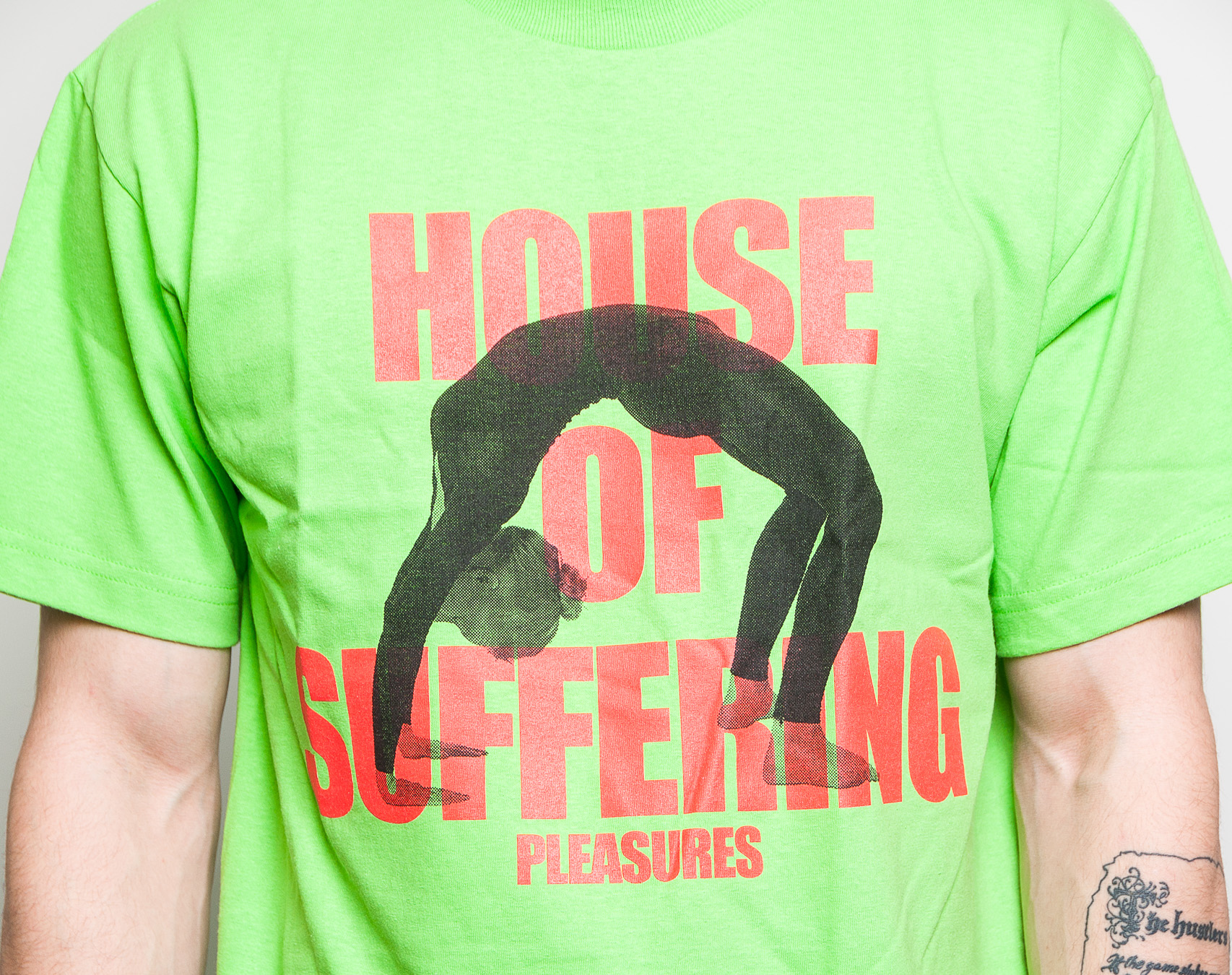 Triko Pleasures House Of Suffering T-Shirt Lime