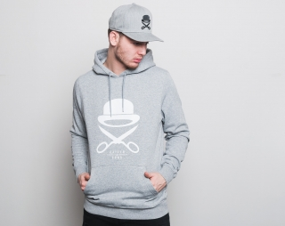 Mikina S Kapucí Cayler & Sons Premium Authentics Icon Hoody Grey Heather/White