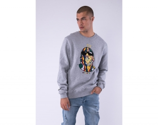 Mikina Cayler & Sons WL Crowned Crewneck Heather Grey/MC