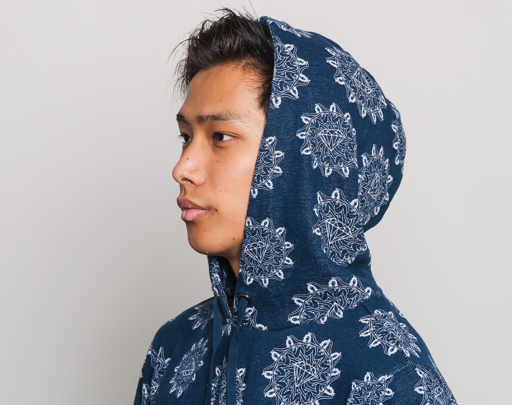 Mikina S Kapucí Diamond Supply Co. Pinup Hoodie Indigo