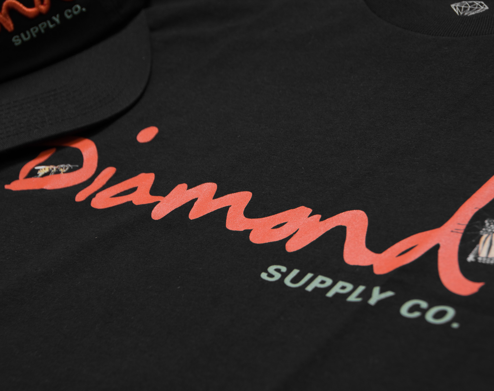 Triko Diamond Supply Co. Paradise OG Script Tee Black