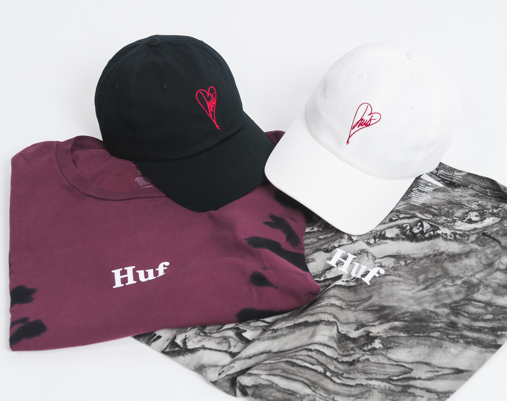 Triko HUF Ambush Tie Dye Rose Black