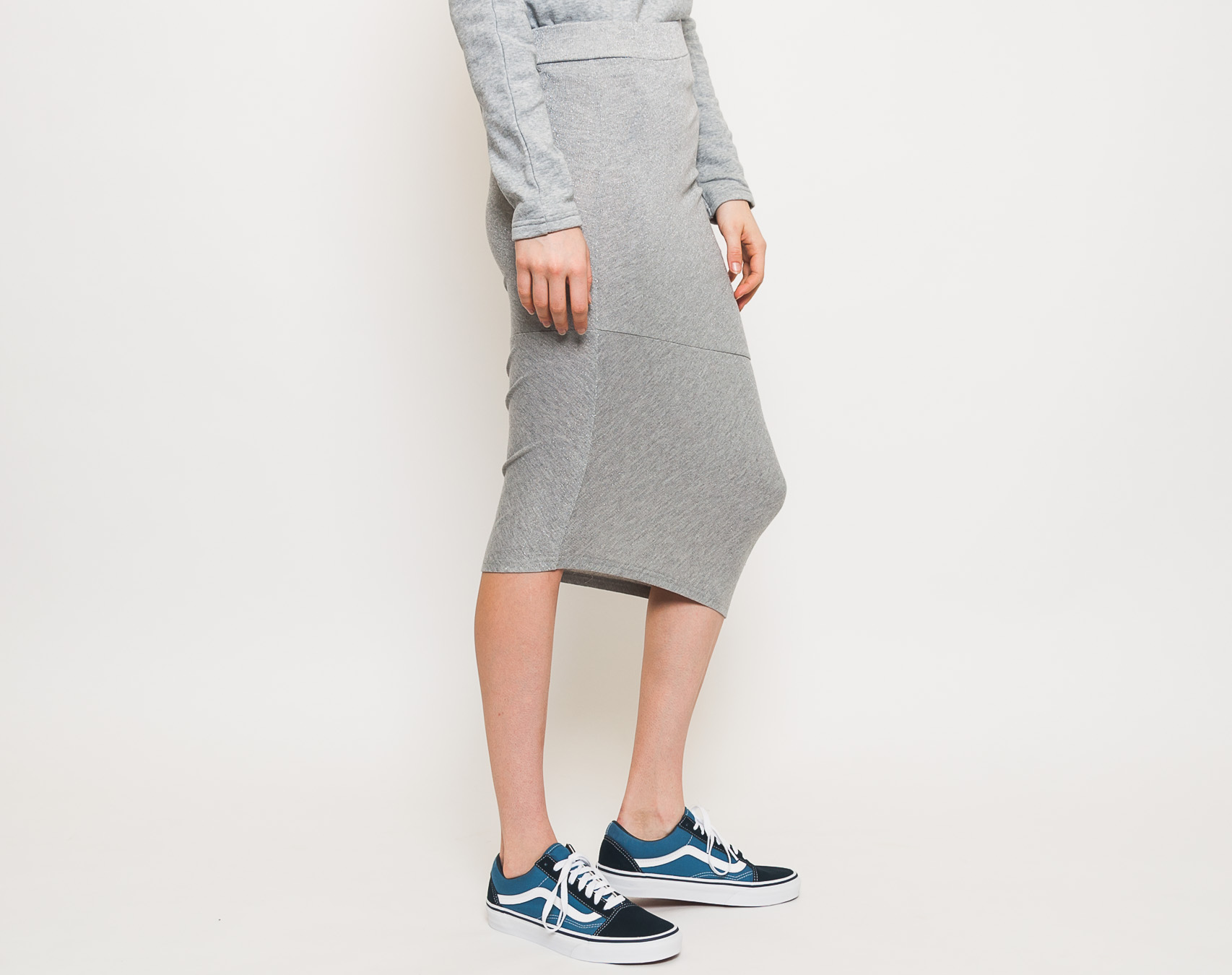 Sukně Cheap Monday Blink Glitter Skirt Grey