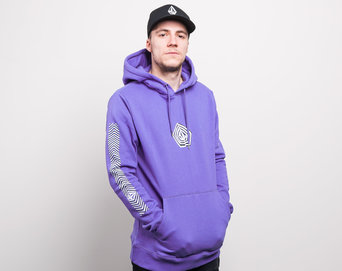 Mikina Volcom Deadly Family Stone Hoody Dark Purple