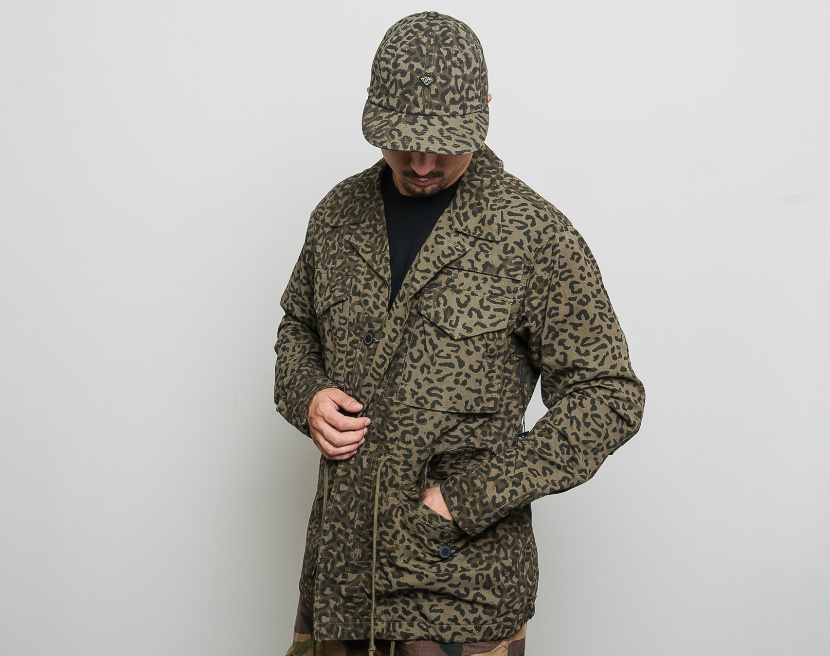 Bunda pánská Diamond Supply Co. Cheetah M65 Jacket Olive