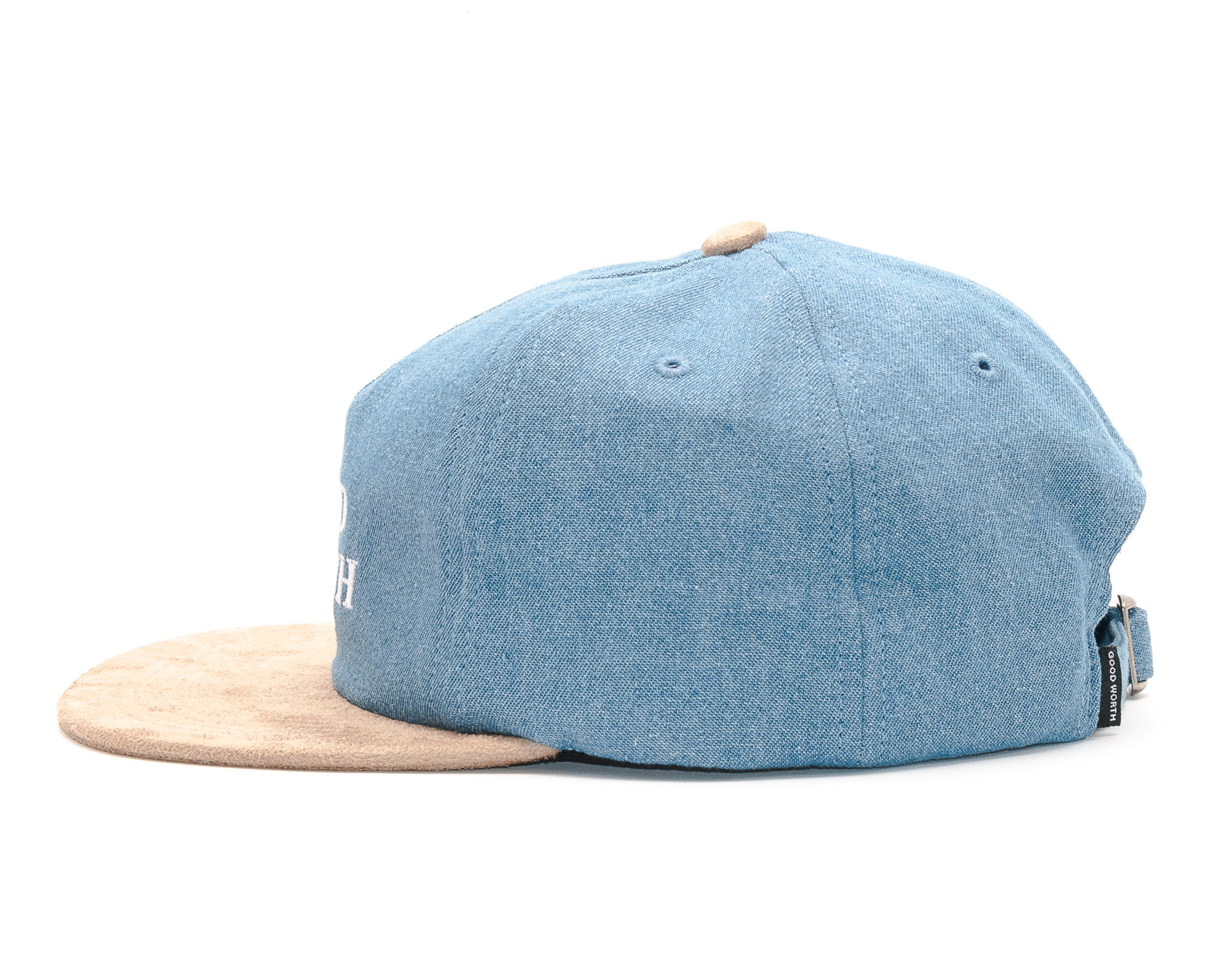 Kšiltovka Good Worth Logo 5 Panel Denim/Tan Snapback