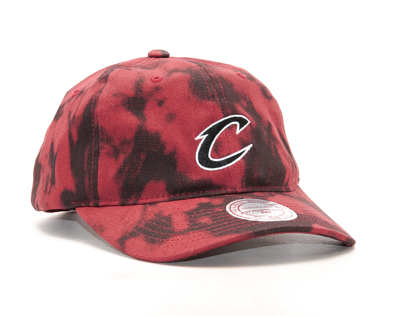 Kšiltovka Mitchell & Ness Multi Colour Acid Wash Cleveland Cavaliers Red Strapback