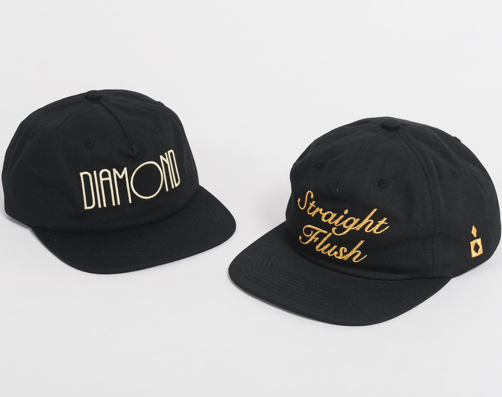 Kšiltovka Diamond Supply Co. Straight Flush Sp18 Unst Black Strapback